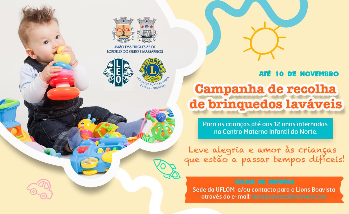 Campanha de Recolha de Brinquedos Laváveis