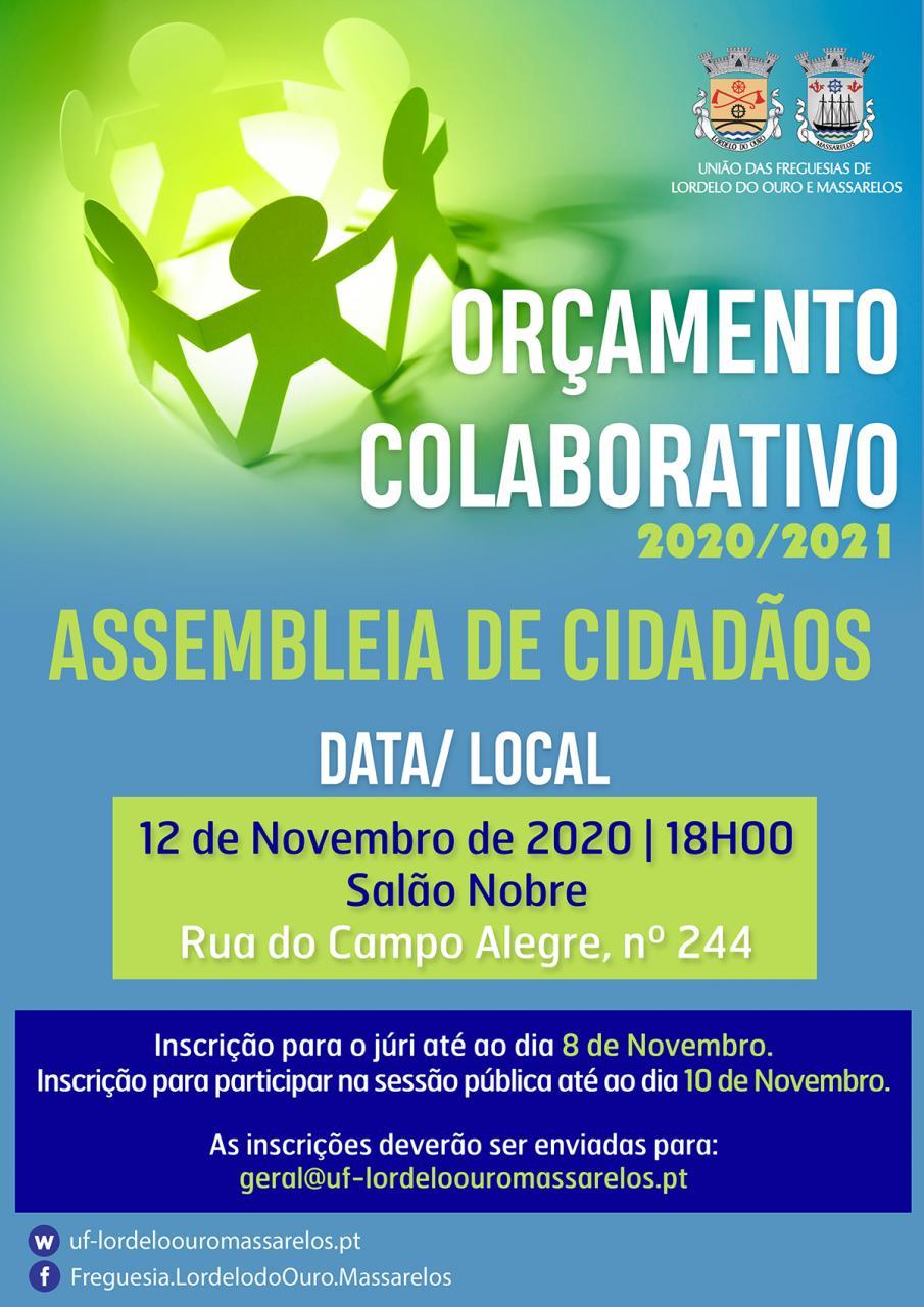 Assembleia de Cidadãos dia 12 de Novembro