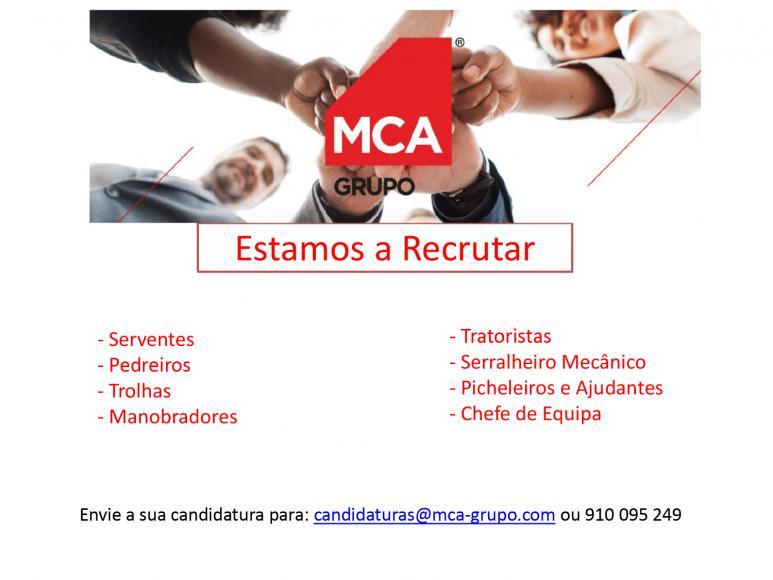 Grupo MCA está a recrutar