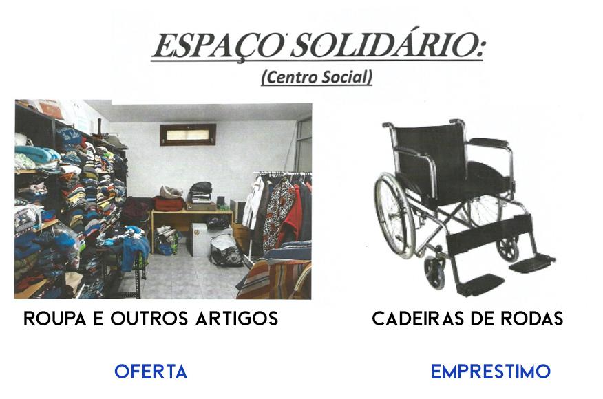 Oferta de Roupa e Outros Artigos | Empréstimo de Cadeiras de Rodas